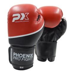 Phoenix PX PRO FIGHT Boxhandschuhe PU schwarz rot