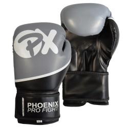 Phoenix PX PRO FIGHT Boxhandschuhe PU schwarz grau