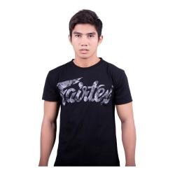 Fairtex TST179 T-Shirt Black Grey Camo