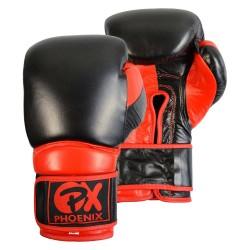 Phoenix PX Leder Boxhandschuh COMBAT schwarz-rot