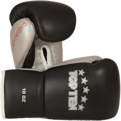 Top Ten Profi Boxhandschuhe 10oz Schwarz Silber