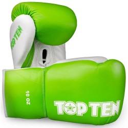 Top Ten Profi Boxhandschuhe 10oz Weiss Grün