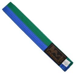 Phoenix Budogürtel grün-blau mittig geteilt