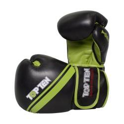 Top Ten Thai Style Boxhandschuhe Schwarz Grün