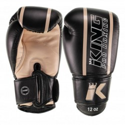 King Pro Boxing Boxhandschuh Elite 4 Black Beige