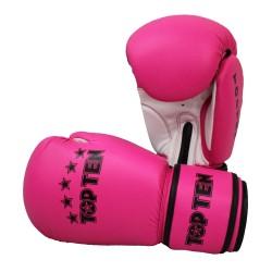 Top Ten R2M 2016 Boxhandschuhe Pink Weiss 10oz