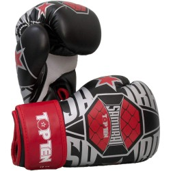 Top Ten Samurai XLP Boxhandschuhe Weiss Rot