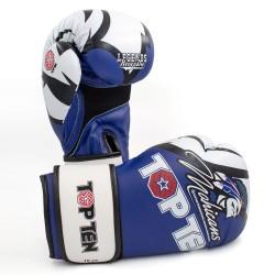 Top Ten Mohicans XLP Boxhandschuhe Blau Weiss
