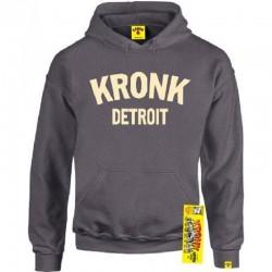 Kronk Detroit Hoodie Charcoal Cream