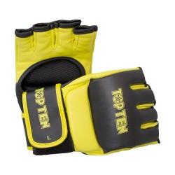 Top Ten Competition MMA Ultimate Fight Handschuhe Schwarz Gelb
