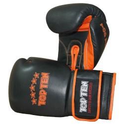 Top Ten Elite Sparringhandschuhe 18oz Schwarz Orange