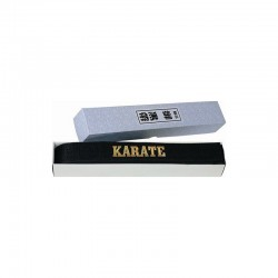 Hayashi Budogürtel Karate Glanzoptik Schwarz mit Box