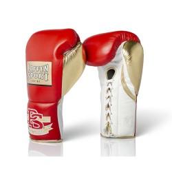 Paffen Sport Pro Mexican Wettkampf Boxhandschuhe Rot Gold Weiss