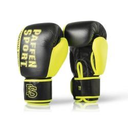 Paffen Sport Essential Sparring Boxhandschuhe Schwarz Neongelb