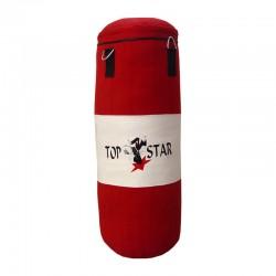 Boxsack Rot Weiss 100cm Ungefüllt