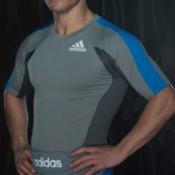 Aberkauf Adidas MMA Fluid Technique Rashguard SS