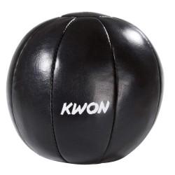 Kwon Medizinball schwarz Leder 3kg