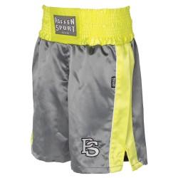 Paffen Sport Kids Boxerhose Grau Neongelb Weiss