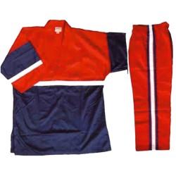 Kickbox Anzug Rot Blau