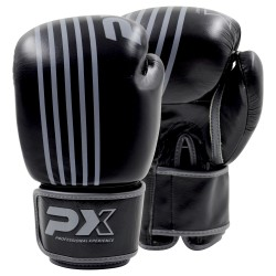 Phoenix PX Boxhandschuhe Leder schwarz grau