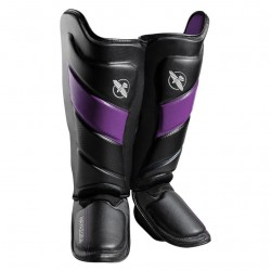 Hayabusa T3 Striking Shinguards Black Purple