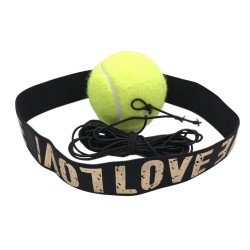 Reflexball mit Stirnband gelb