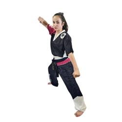 Top Ten Bow Kickboxuniform Schwarz Pink Weiss