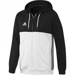 Abverkauf Adidas T16 Hoodie Männer Schwarz Weiss AJ5409