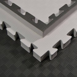 Phoenix Puzzlematte 100x100x4cm grau schwarz