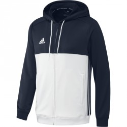 Abverkauf Adidas T16 Hoodie Männer Navy Blau Weiss AJ5410