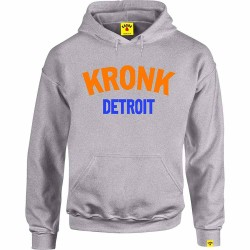 Kronk Detroit Hoodie Sport Grey Orange Blue