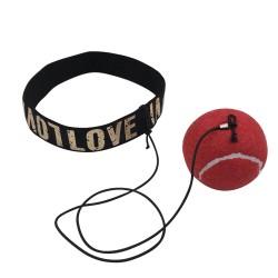 Reflexball mit Stirnband rot