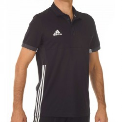 Abverkauf Adidas T16 Team Polo Männer Schwarz Weiss AJ5277