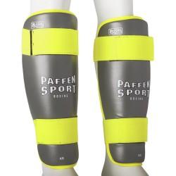 Paffen Sport Kids Schienbeinschutz Grau Neongelb