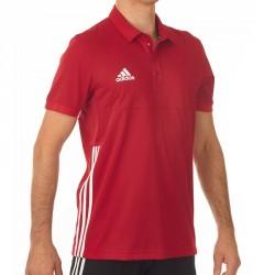Adidas T16 Team Polo Männer Power Rot Weiss AJ5279