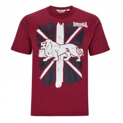 Lonsdale Paisley Herren T-Shirt Dark Red