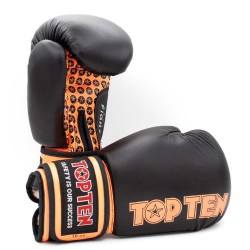 Top Ten Fight Boxhandschuhe Schwarz Orange 10oz