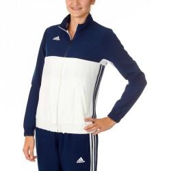 Abverkauf Adidas T16 Team Jacke Damen Navy Blau Weiss AJ5327
