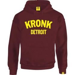Kronk Detroit Hoodie Maroon Yellow