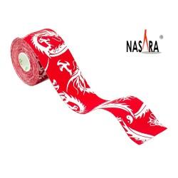 Nasara Dragon Kinesiologie Tape Red 5cm x 5m