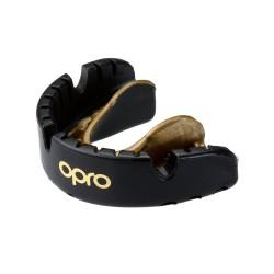 OPRO Zahnschutz Gold Brace Senior mattschwarz
