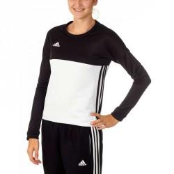 Abverkauf Adidas T16 Team Sweater Damen Schwarz Weiss AJ5414