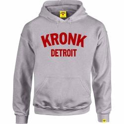 Kronk Detroit Hoodie Sport Grey Red