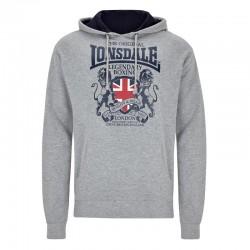 Lonsdale East Kilbride Herren Sweatshirt Marl Grey