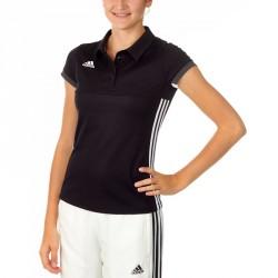Adidas T16 Team Polo Damen Schwarz Weiss AJ5273