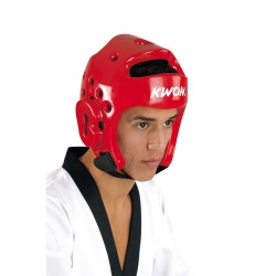 Kwon PU Kopfschutz WT rot