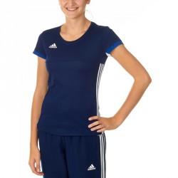 Abverkauf Adidas T16 Team T-Shirt Damen Navy Blau Weiss AJ5302