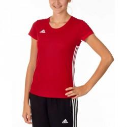 Abverkauf Adidas T16 Team T-Shirt Damen Power Rot Weiss AJ5303