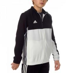 Abverkauf Adidas T16 Team Jacke Kids Schwarz Weiss AJ5322