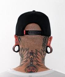 Abverkauf BOXHAUS Brand Sairon06 Snapback Cap Label black